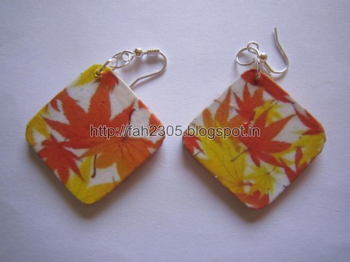 Handmade Jewelry - Card Paper Earrings  (22) by fah2305
