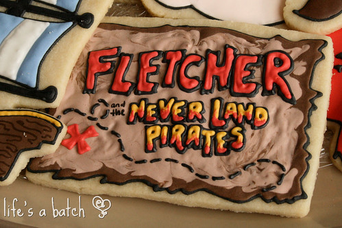Fletcher's personalized logo cookie.