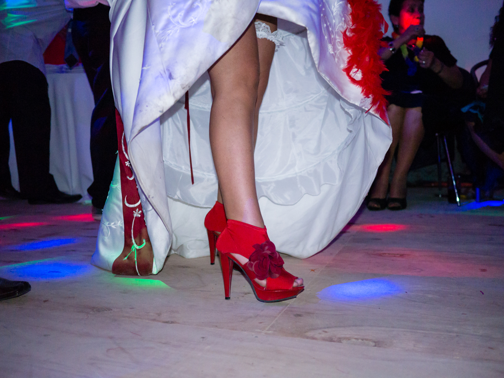 CL Society 305: Bride red shoes