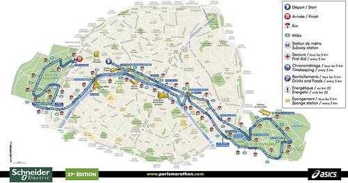 Ruta Maratón de Paris