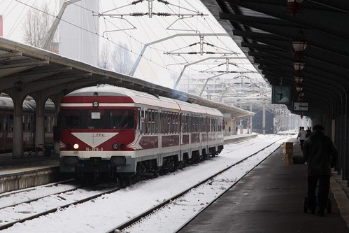 DMU belonging to private operator 'Transferoviar Calatori' arrives in Bucharest