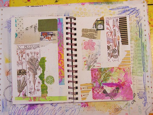 Collage Art Journal Page, Part 1
