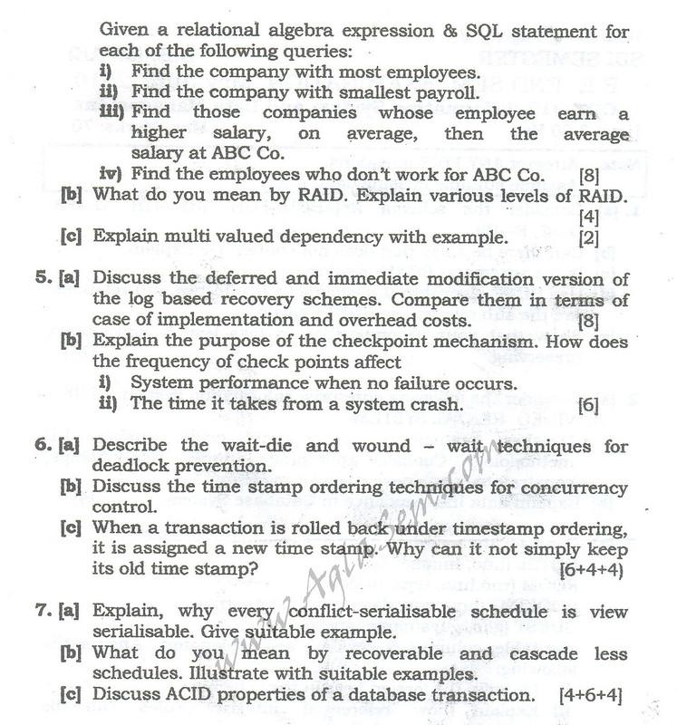 DTU Question Papers 2010 – 6 Semester - End Sem - COE-312