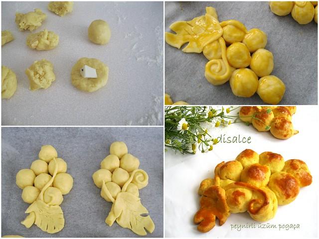 peynirli üzüm poğaçalar