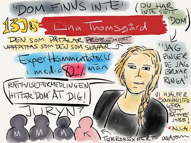 Sketchnotes från @LinaT Lina Thomsgårds snack på #aggro13