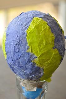 Earth Globe Papier Mache