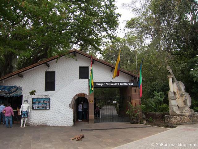 Entrance to Parque Natural El Gallineral
