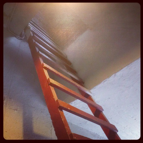 Ladder to the roof.
