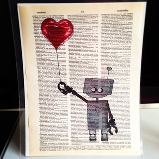 Hello new friend. Have to find a frame for you. #etsy #robot #art