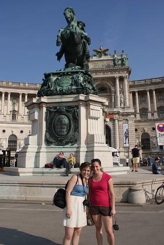 The girls in Heldenplatz.