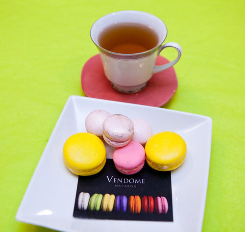 Having some Vendôme macarons for breakfast