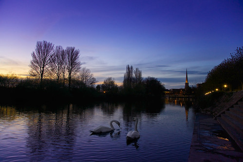 sunset night canon river eos severn clear swans worcester 5dmarkiii