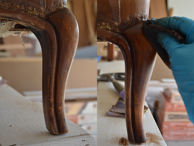 Classic Wingback Chair Re-Finishing