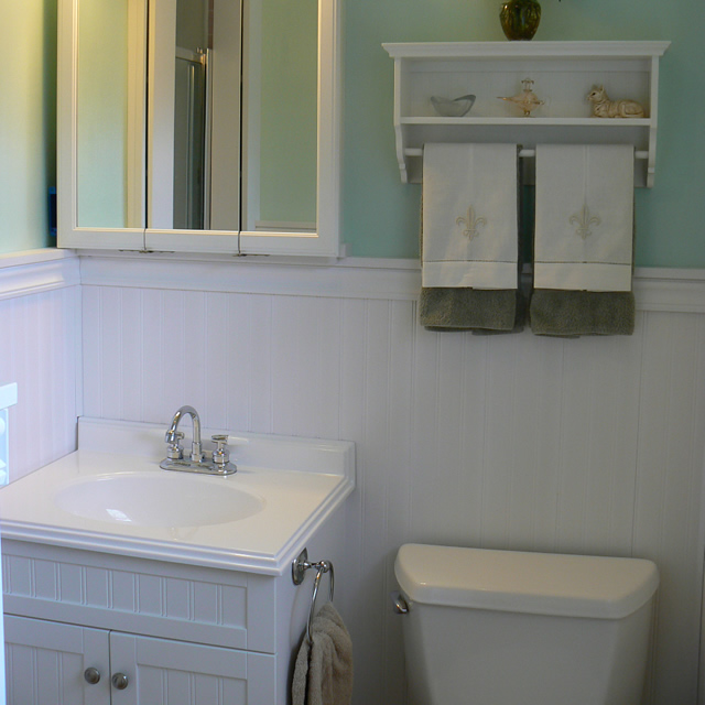 Beadboard Over Tile In Bathroom: Flickr - Photo Sharing