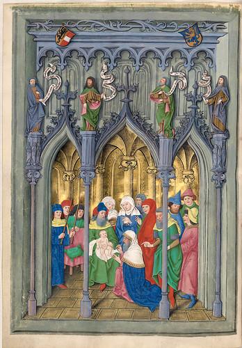 004-La circuncision de Jesus-Misal de Salzburgo-1499-Tomo 1 -Biblioteca Estatal de Baviera (BSB)