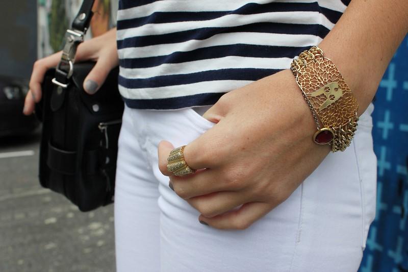 j brand skinny jeans breton stripe top charlotte olympia kitty flats proenza schouler karen walker sunglasses