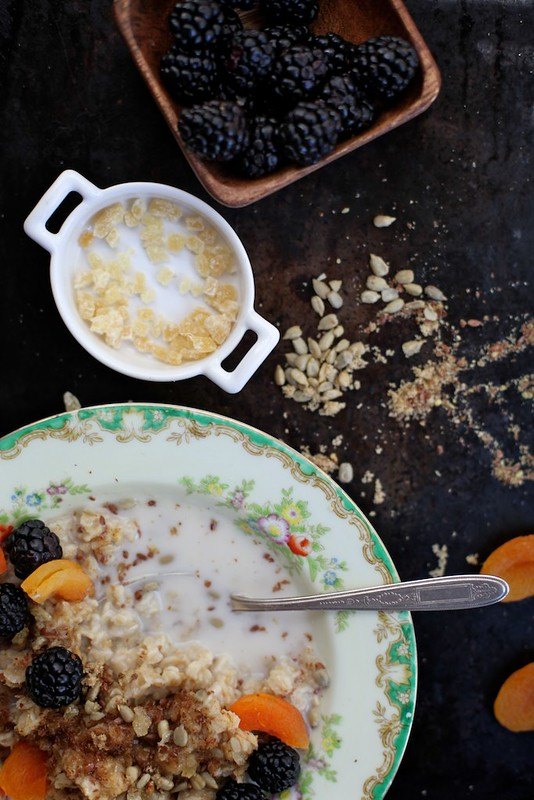 Blackberry Apricot Sunflower Oatmeal