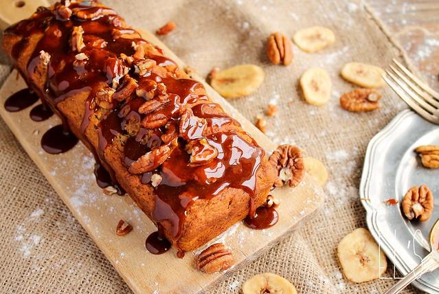 Banana bread aux noix de pécan