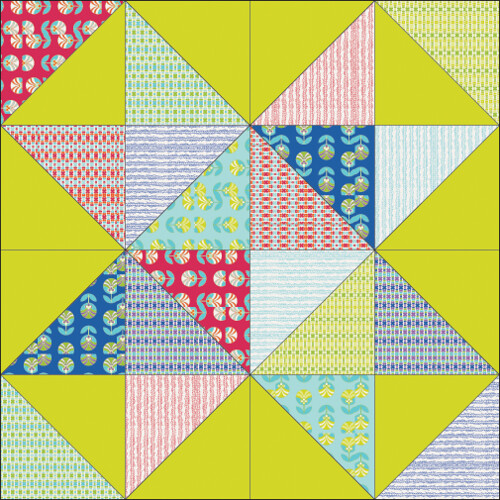 Scrappy Star Quilt Tutorial - In Color Order