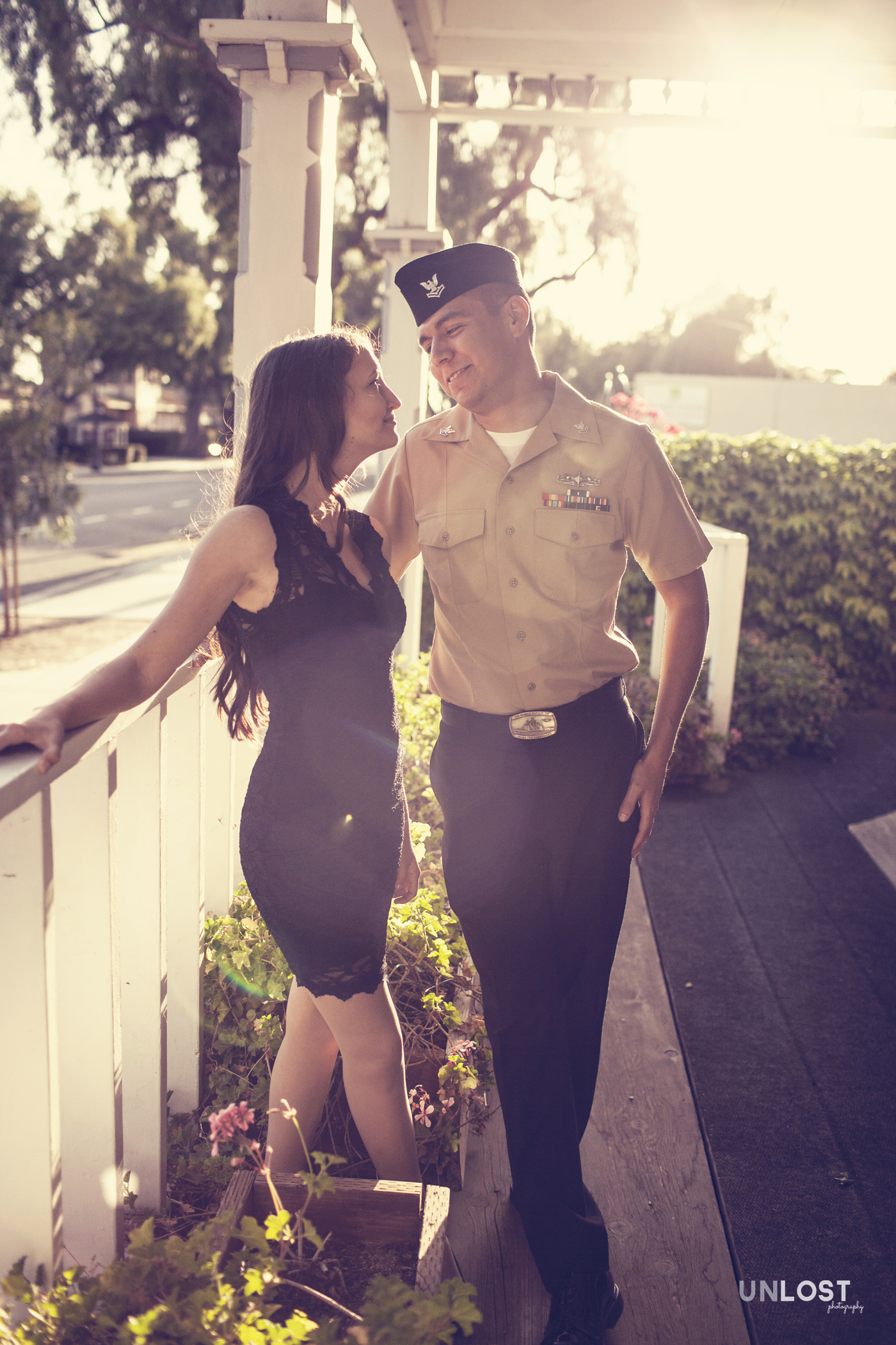 Navy Man and his fiance in Moorpark, CA
