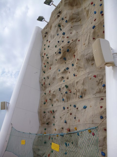 Legend of the Seas rock climbing wall