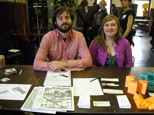 Joe Coyle and Becca Sorgert at Midwest Zine Fest 2013
