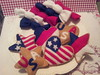 American Flag Color Cookies & Candies