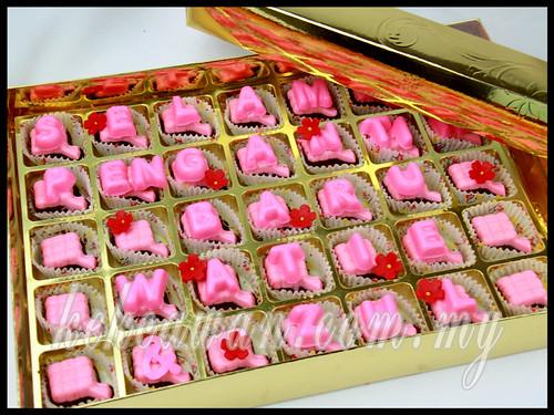 Hantaran: Chocolate Praline @ Bentuk Ketupat
