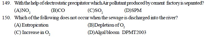 AIPMT Question Bank: Biology - Environmental Issues