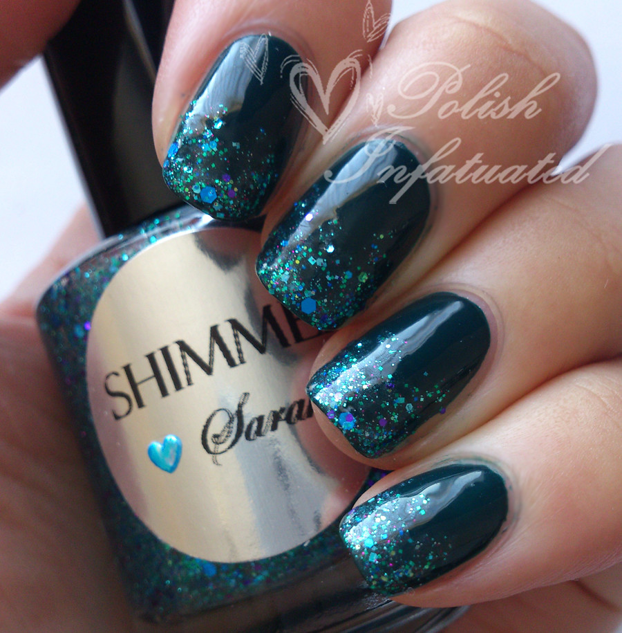 teal and glitter