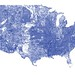 US rivers in the contiguous 48 by Nelson Minar