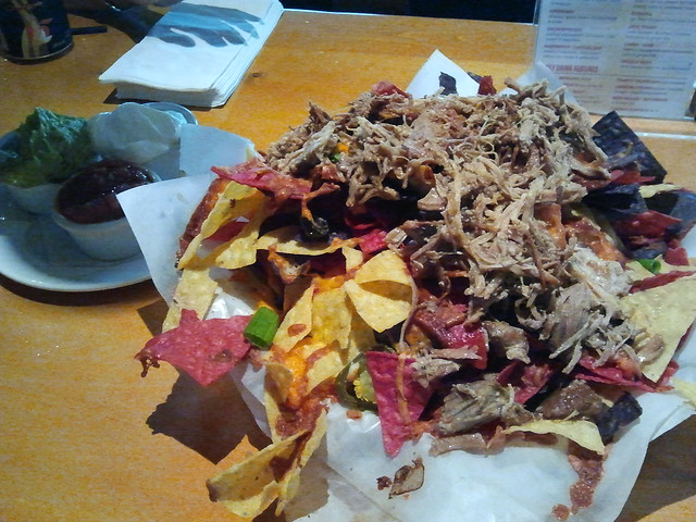 Mountain Nachos with pulled pork