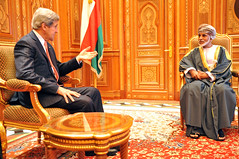Secretary Kerry Meets With Omani Qaboos bin Said Al Said