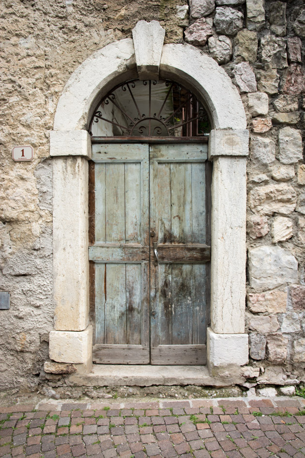 rustic wooden door italy
