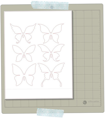 paper pieced butterflies REGULAR CUT in silhouette studio copy