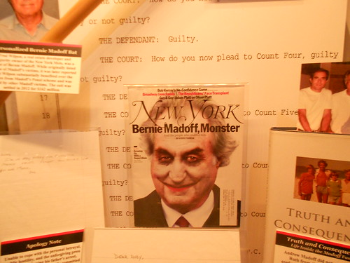 Bernie Madoff Exhibit within the Crime & Punishment Museum