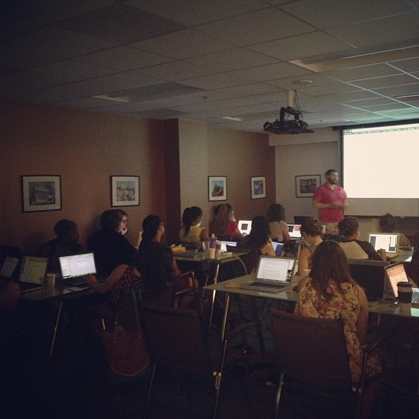 So many ladies learning programming!! #sunlightgram
