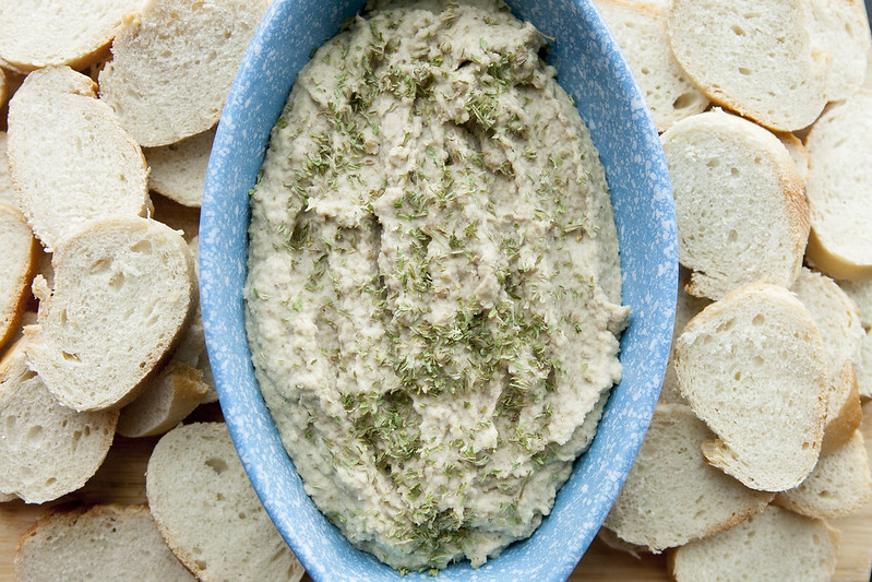 HEALTHY, DAIRY FREE, White Bean Lentil DIP! This homemade recipe is made with dried beans making this extremely cheap to make! Serve it hot or cold with vegetables and chips! It's one of the BEST Party dips!