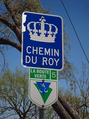 Day 1 - Marker for the Chemin du Roy, and the Route Verte