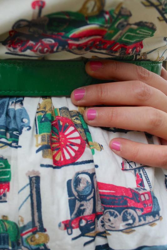 train print dress