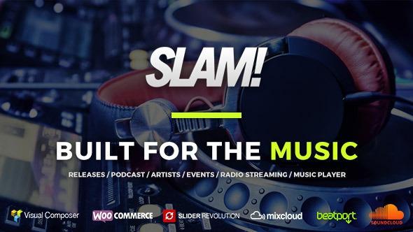 SLAM v3.3 - Music Band, Musician and Dj Wordpress Theme