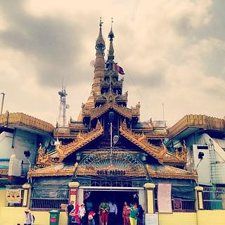Image of  Sule Pagoda  near  Shwedagon Pagoda. square nashville squareformat iphoneography instagramapp uploaded:by=instagram foursquare:venue=4c7f40e81415b713ba46ff5c