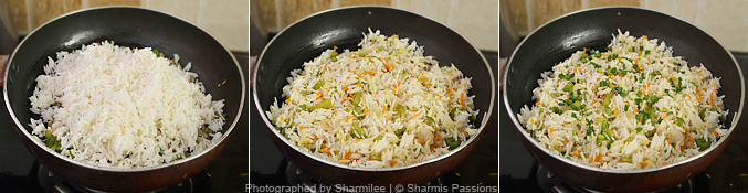 How to make veg fried rice - Step4