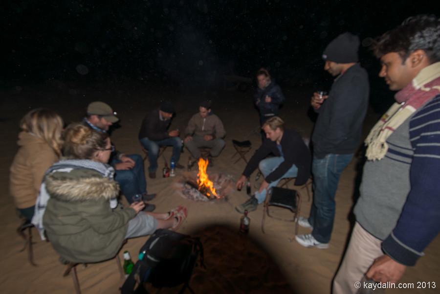 Встреча 2013 нового года в пустыне в Индии