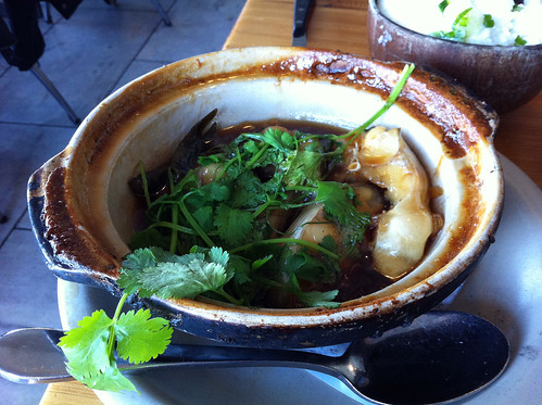 Caramelized catfish claypot