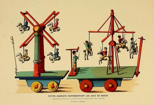 013-carros representan el juego de los anillos-Epoca Imperio-Histoire des jouets….1902- Henry René d' Allemagne