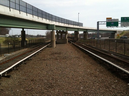 Looking east from edge of Dunn Loring Station
