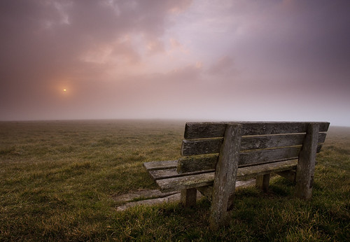 park sunset england cloud fog bench downs sussex head south east national beachy