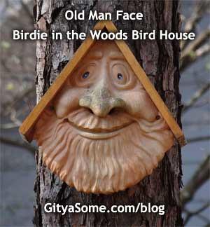 Tree Face Bird Houses | Allie MarsOld Man Face Bird Houses