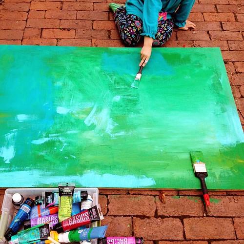 paint dusting